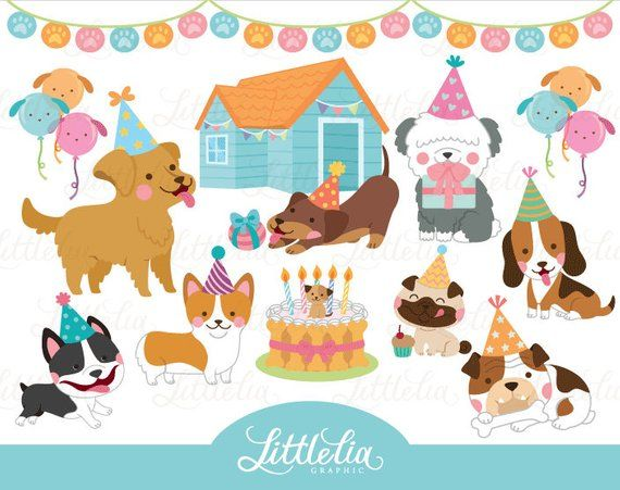Dog Party Party Clipart Dog Clipart 17034 Etsy In 2021 Party Clipart Clip Art Pet Adoption Party