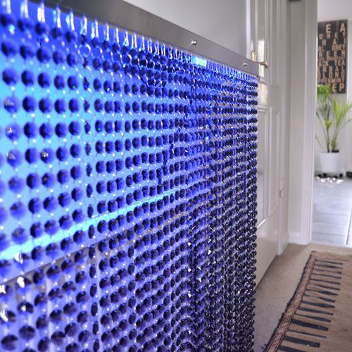 Purple crystal radiator cover with blue LED lighting combo