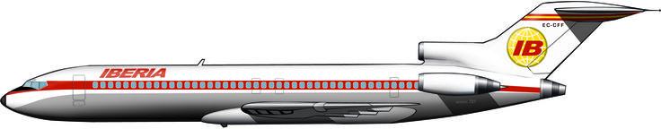 Boeing 727-200, de iberia 1974, España