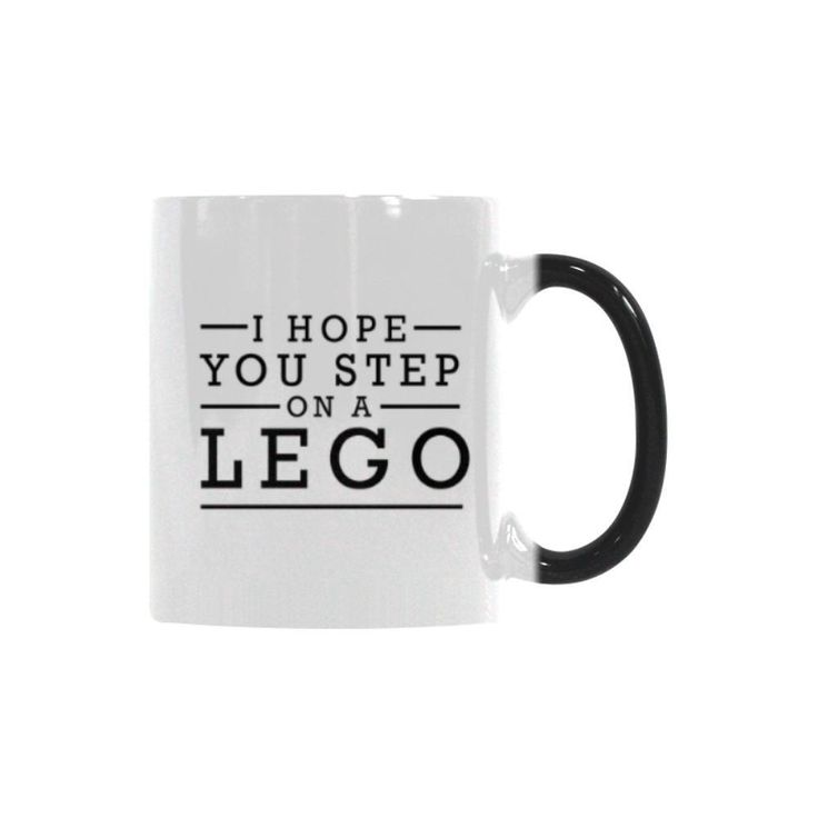 I Hope You Step On A Lego Humor Gag Funny Quotes Color Changing/Morphing 11oz Coffee Mug