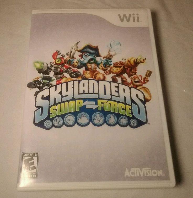 Skylanders SWAP Force (Nintendo Wii, 2013) works great game only