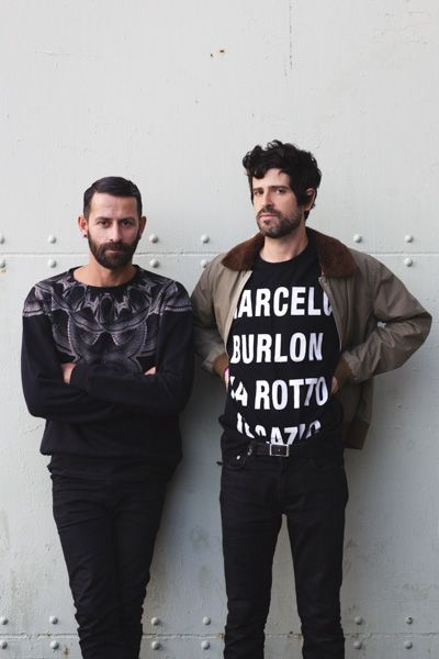 Marcelo and Devendra in County of Milan