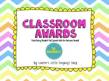 58 End of year classroom award templates for your students!