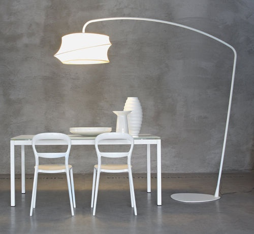 lampada da terra design in tessuto (arco) CYGNUS by Gino Carollo Calligaris Italian home design since 1923