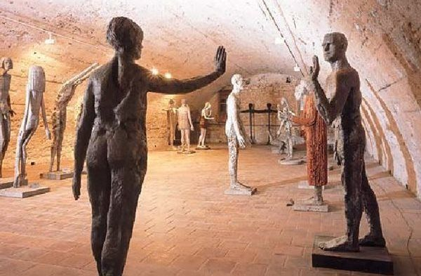 Sculptures by Olbram Zoubek in Litomyšl Chateau  See: http://1url.cz/Y49z