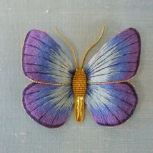 Goldwork и шелка Shading - 3D Бабочки - Курсы - Ardington Школа ремесел