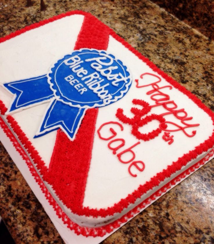 Pabst Blue Ribbon Cake
