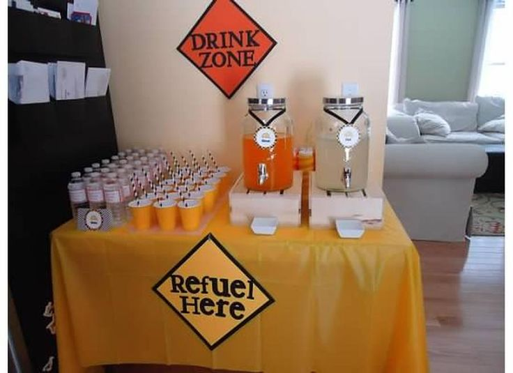 Drink Zone for construction birthday