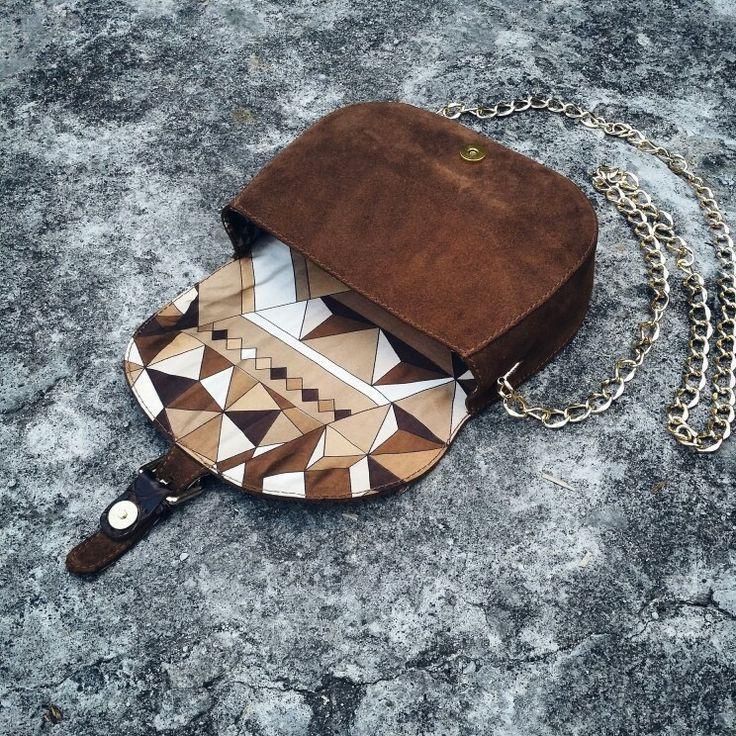 Bag minibag exclusive handmade limitededition suede crocodile silk