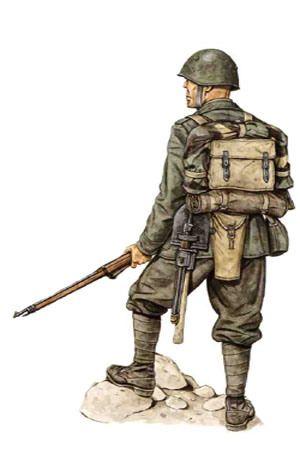 """Regio Esercito - Soldato, 77° Reggimento fanteria, Divisione """"Lupi di Toscana"""", Grecia1941-42"""