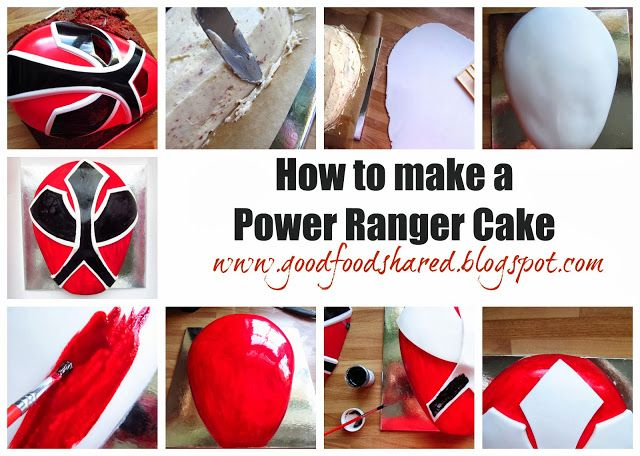 How to make a Power Ranger Cake, for the little or big man in you life!