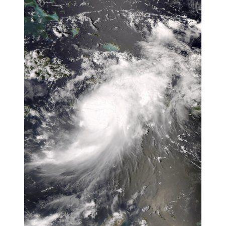 Hurricane Gustav over Hispaniola Canvas Art - Stocktrek Images (25 x 32)