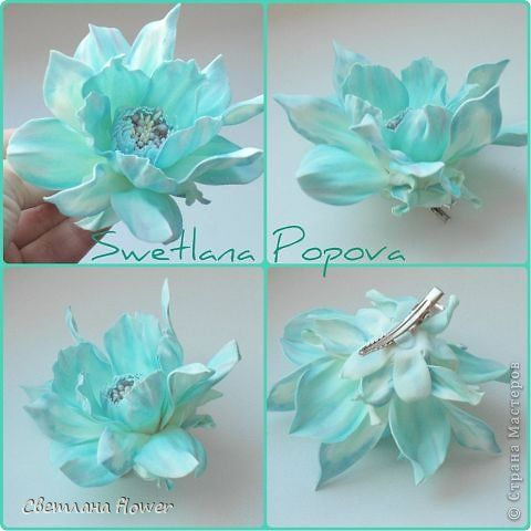 Украшение Моделирование конструирование Мои новые цветочки из фоамирана   Фоамиран фом фото 2