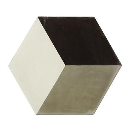 Vloertegel Marrakech hexagon decor 3-dimensionaal grijs 17 x 17cm per 0,52m2 | Praxis