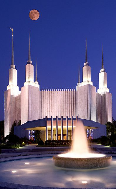LDS Temple - Washington DC by str8shooter, via Flickr