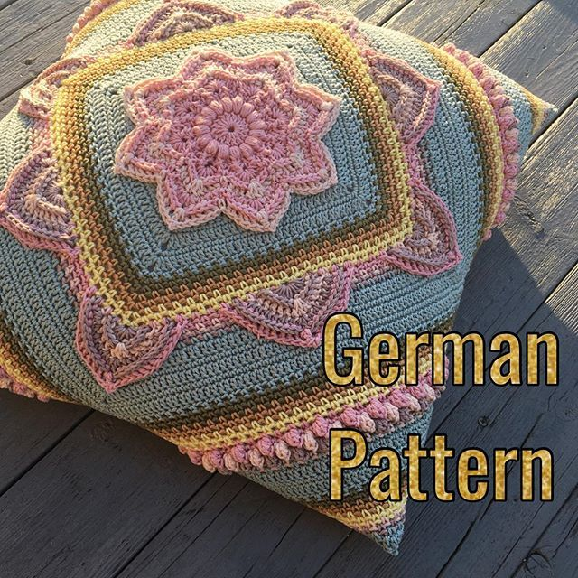 ALSO IN ENGLISH - Crochet  Pillow - Free Pattern - have great news for all my followers from Germany Heike Berg made a german translation of the #inbloomcal pattern. All eight parts plus stitch tutorials and yarn/colour charts are now available on my blog  . #mijocrochet #scheepjescatona #crochetpattern #virkmönster #crochetcal #favoritgarnercal #scheepjes #crochetcushion #virkadkudde #inbloomcal #favoritgarnerheartsscheepjes
