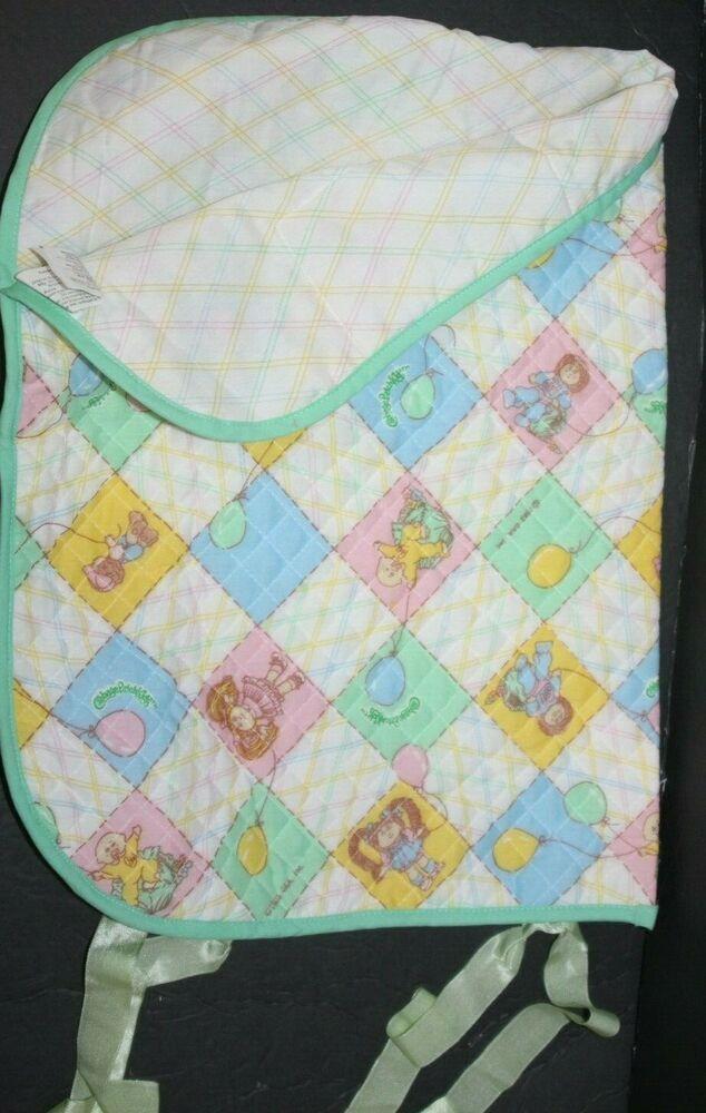Vintage Cabbage Patch Kids Slumber Bag Quilted Sleeping Bag Blanket 1982 Coleco