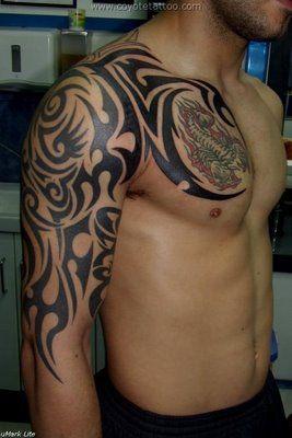 Tatuajes Para Hombro Y Brazo Impermeable Rabe Indio Falso Tatuajes