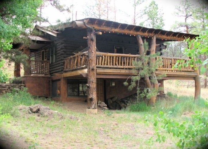 Wonderful Old Fashioned Colorado Log Cabin With A Grand PorchVacation Rental In Woodland Park From