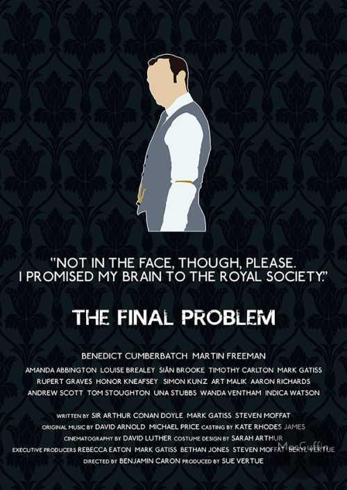 The Final Problem - Mycroft Holmes by MacGuffin Designs Available to buy here: http://www.etsy.com/uk/listing/119480965/sherlock-mycroft-holmes-poster-choose and here: http://society6.com/product/the-final-problem-mycroft-holmes_print