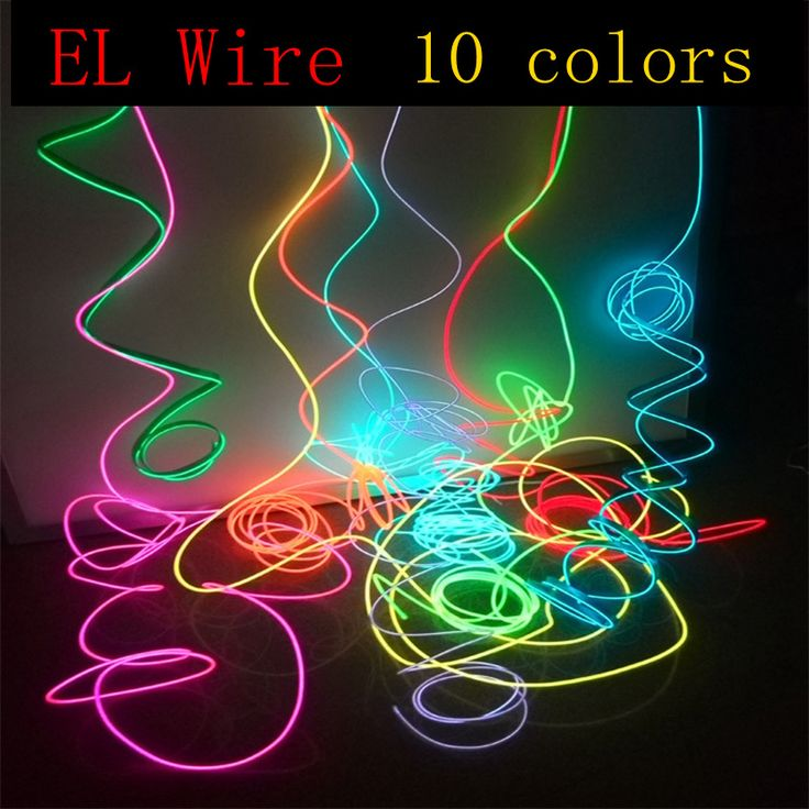 Elワイヤー10色ロープチューブケーブルdiyオートカーインテリアledストリップライト柔軟なネオングローライトパーティー装飾ダンスイベントデコ