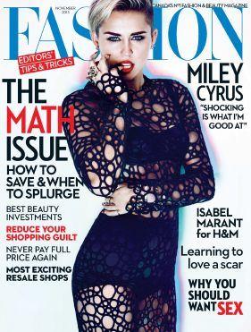 Fashion - November 2013 with Miley Cyrus