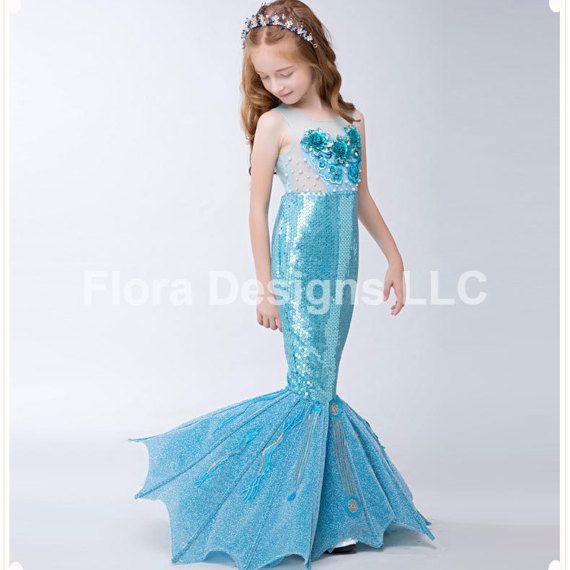 Sirena Vestido cola de sirena traje sirena