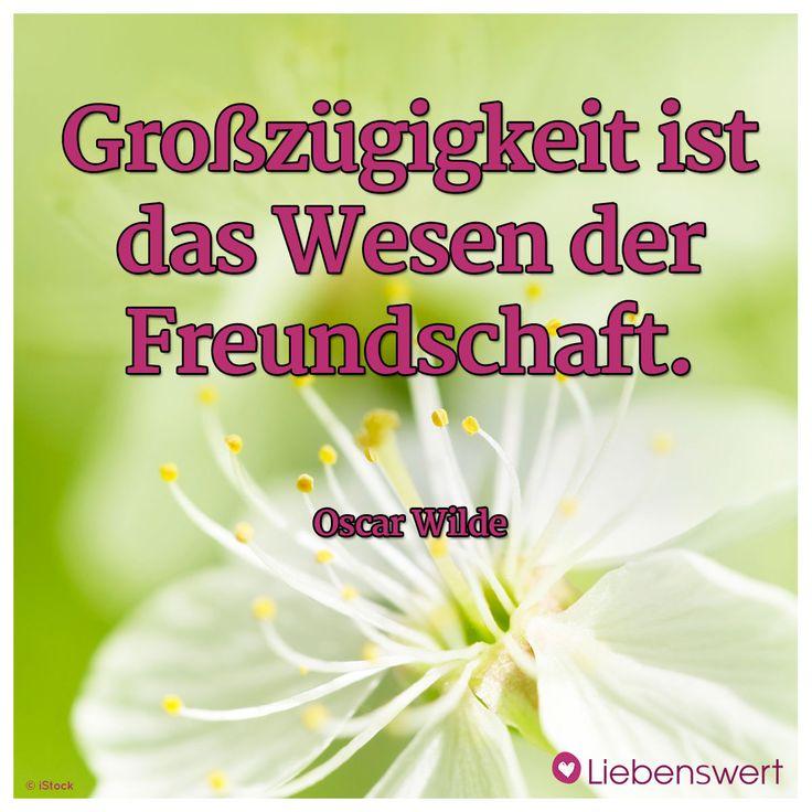Großzügigkeit ist das Wesen der Freundschaft. (Oscar Wilde)