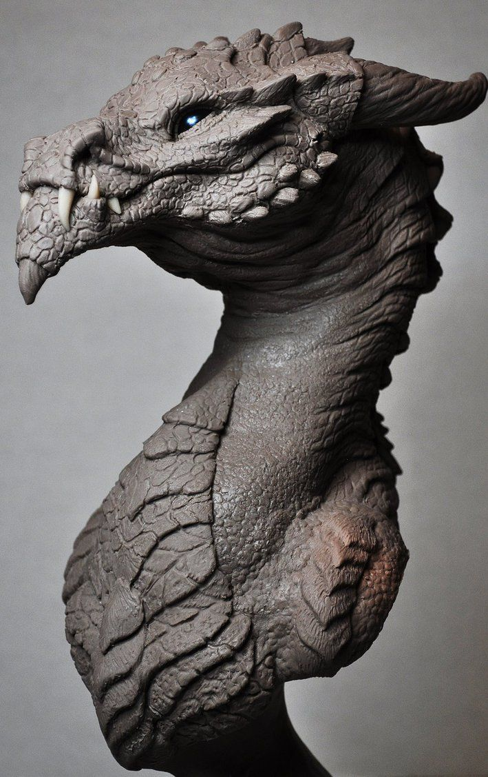 Goliath Dragon Bust Creature Sculpt 2 Beast by AntWatkins on deviantART