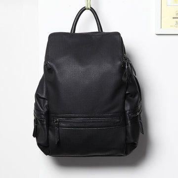 Black Fashion Front Pocket Backpack