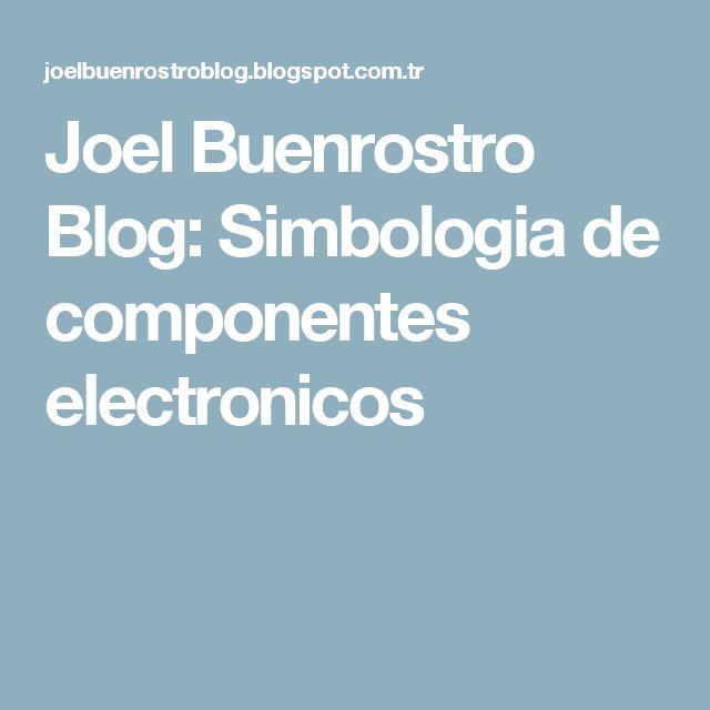 Joel Buenrostro Blog: Simbologia de componentes electronicos