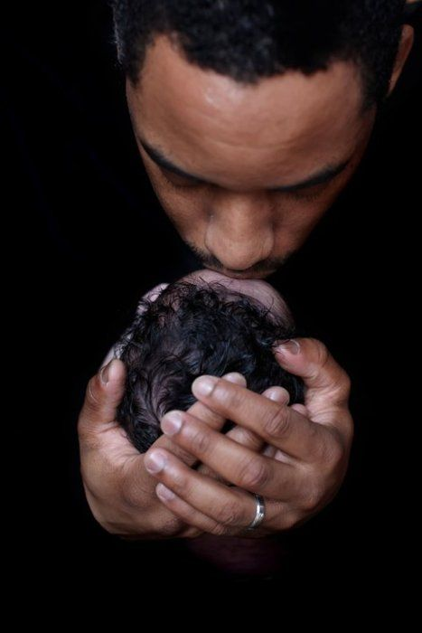 Black Father & child ... Black Love ... Black•L❤VE