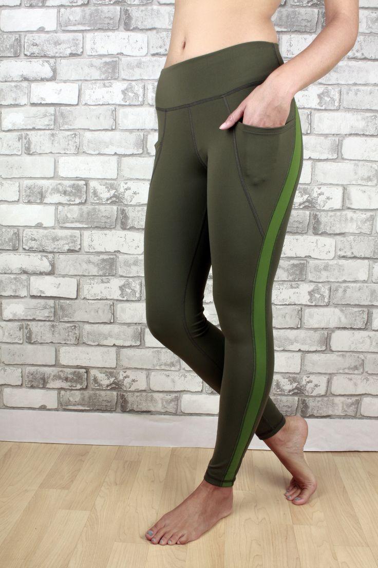 Jordyn legging in green with two pockets