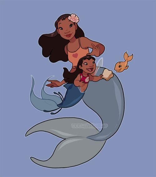 Mermaid Lilo and Nani