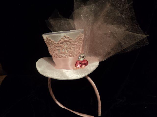 pink top hat. handmade