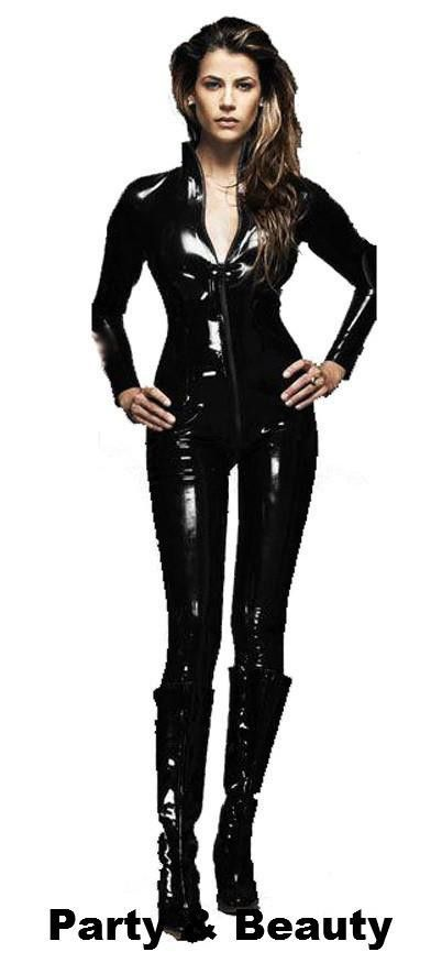 PVC Catsuit Costume in Black   Party and Beauty