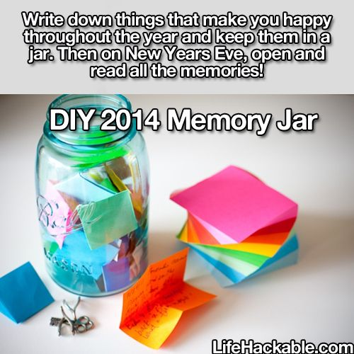 Awesome idea for you to do, the kids, you and your mate and also you could do this at work/school and at the end of the year look back at all the great memories hack