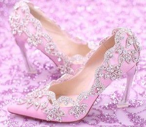 Lindos tacones color rosa de boda 6