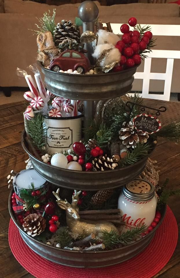 Loving The 3 Tier Stand Christmas Decor Christmas Centerpieces Diy Christmas Decorations Rustic Christmas Centerpieces