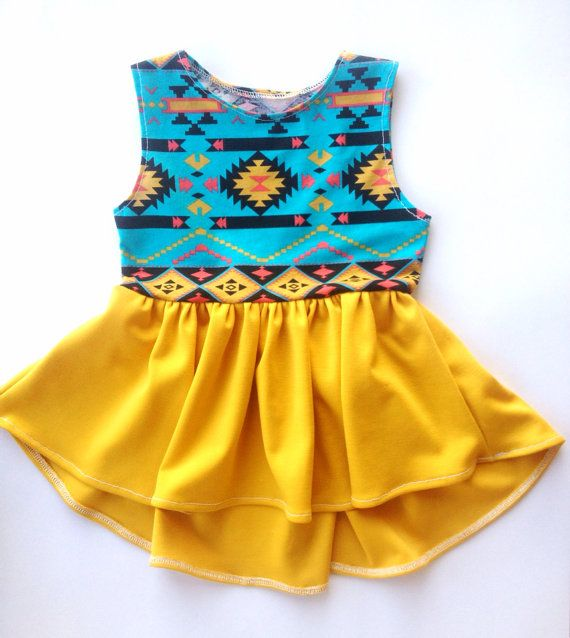 high low dress toddler girl aztec mustard tribal arrow dress baby dress