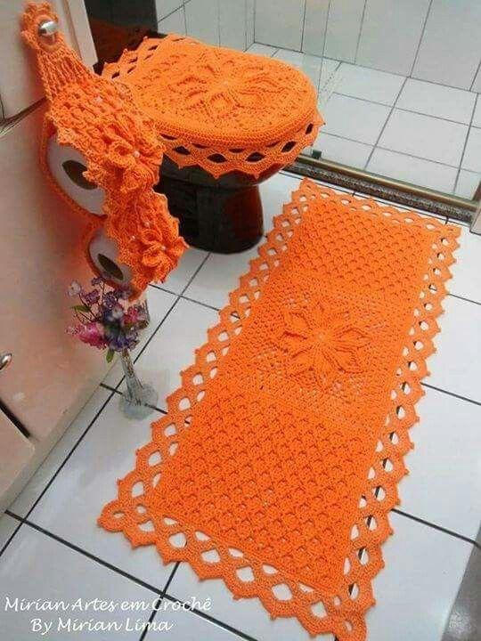 1047 best images about para el ba o on pinterest - Set de table crochet ...