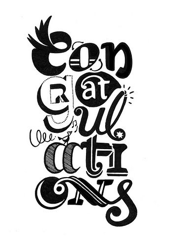 Congratulations!  #Handlettering  40 Examples of Incredible Hand-Drawn Typography | PSDFan