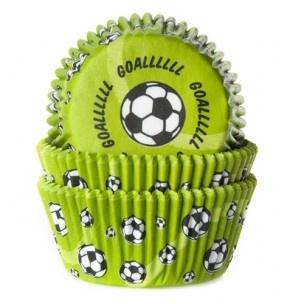 Groene voetbal cupcakes van House of Marie.