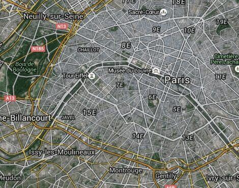Airparif - - Carte des stations de mesure d'Airparif