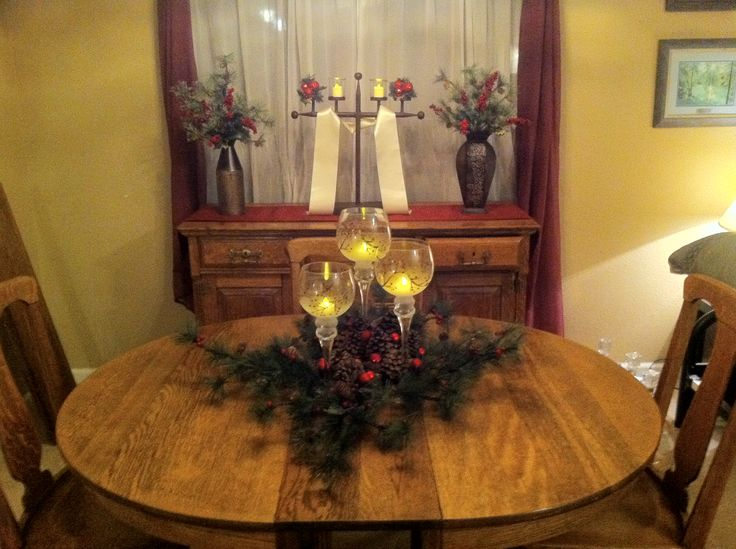 Dining Room Christmas Decorations Pinterest Rooms