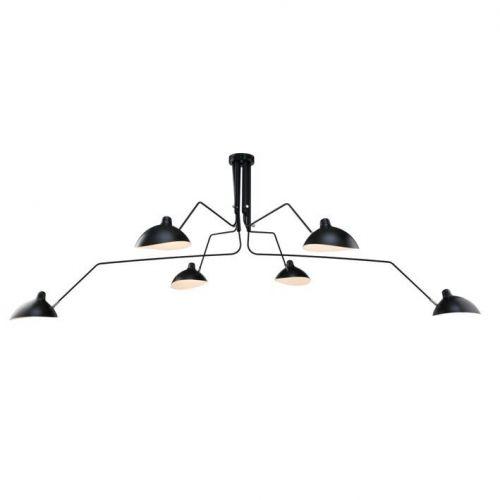 Lampa sufitowa RAVEN 6, czarna