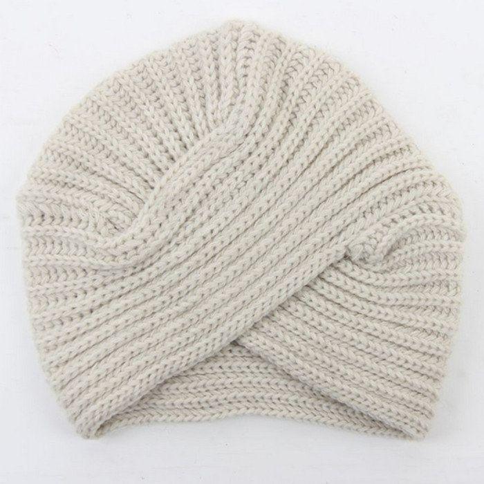 Winter Women Knitted Felt hat Turban Head wrap Twist Warm Beanies Headwear caps Girls Ladies
