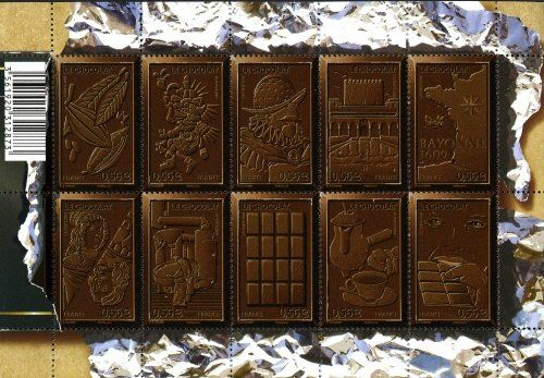 Stamp: Le Chocolat (France) (Chocolate) Yt:FR F4357,Mi:FR 4686-4695KB