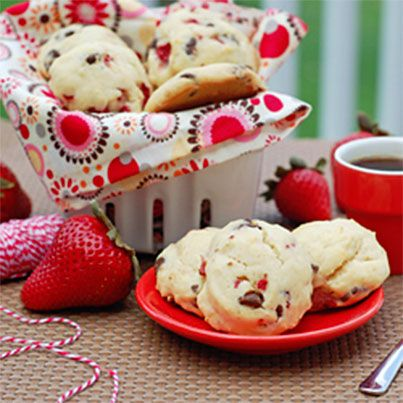 Mini Maple Strawberry Chocolate Chip Scones