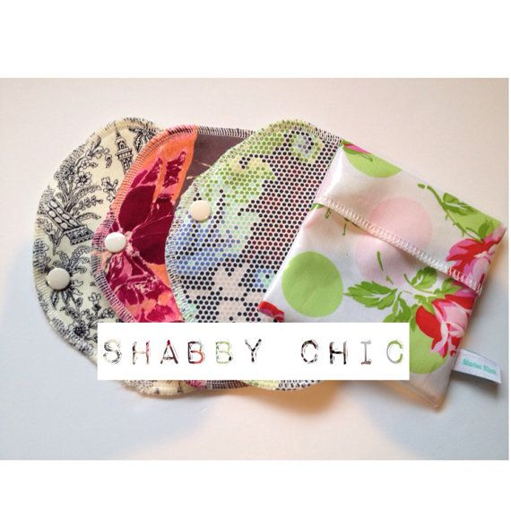 Gift Set / Wrap Style Bamboo Pantyliners/Shabby Chic by MamaKloth, $19.50